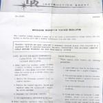 Instruction Sheet Sample