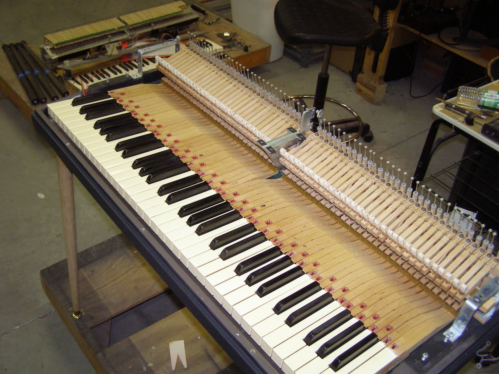 Wurlitzer piano action